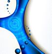 Hi-Tech blue abstract composition