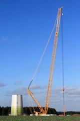 Windrad Aufbau