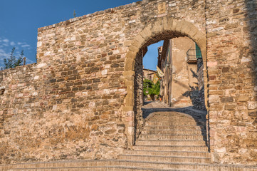 city gate in Montefalco, Italy