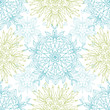 Vector abstract floral mandalas seamless pattern background with