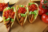 chicken tacos with tomato salsa