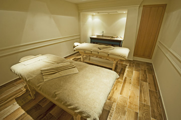 Massage room in a health spa