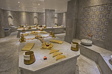 Large turkish bath in health spa