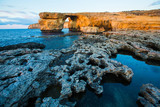 Azure Window, natural arch on Gozo island, rock formations
