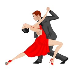 man and woman dancing