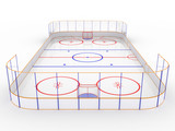 Ice rinks on a white surface. hockey #10