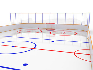 Ice rinks on a white surface. hockey #11