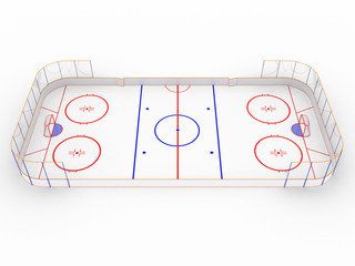 Ice rinks on a white surface. hockey #8