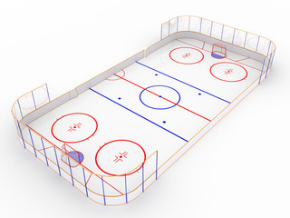 Ice rinks on a white surface. hockey #7