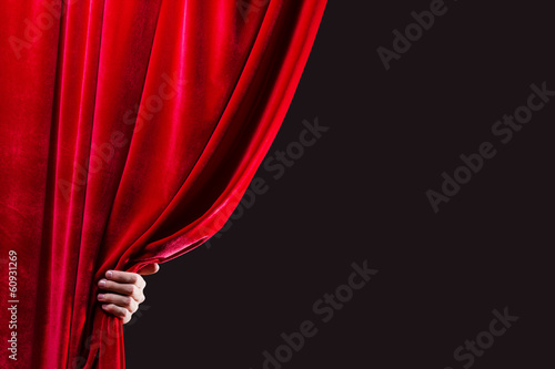 Red curtain