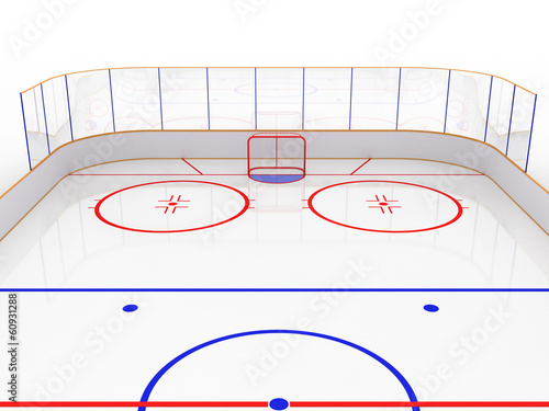 Ice rinks on a white surface. hockey #9
