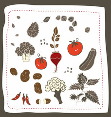 doodle z warzywami