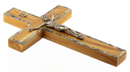 Olive Wood Christian Cross with Jesus - Crucifix