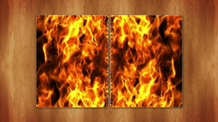 Flames in Book, Loop