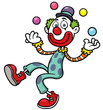 Vector illustration of funny clown