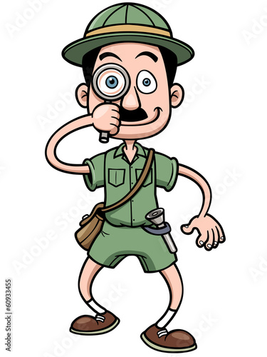 Vector illustration of Cartoon Safari man