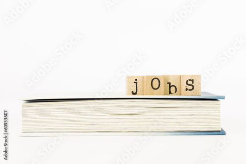 jobs wording stack on a book