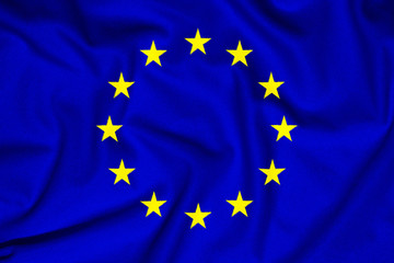 Fabric texture of the flag of European Union