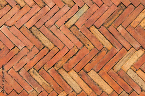 Red brick pavement