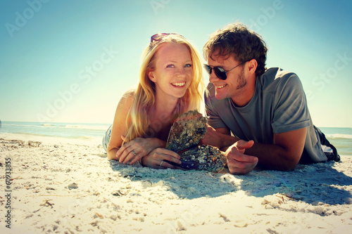 Smiling Couple at Beach