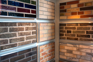 Decorative bricks on display