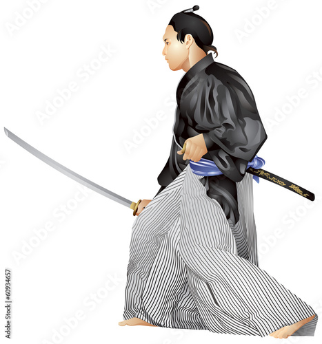 Samurai with the sword