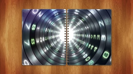 Numbers Tunnel in Book, Loop