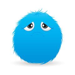sad hairball