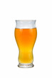 Fresh Beer in Tall Curved Shaped Glass