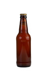 Unopened Bottle of Beer Isolated on White