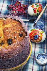 Easter homemade cakes of the dough