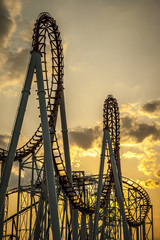 Roller Coaster at Sunset