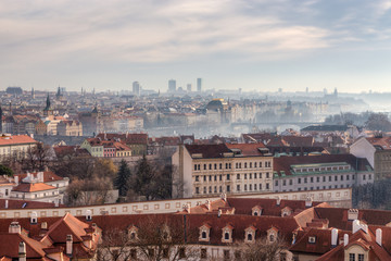 Panoramic view of Prague, Czech Republic