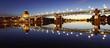 Leinwandbild Motiv Les belles couleurs de Toulouse au coucher de soleil