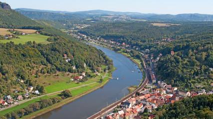 Blick auf Königstein - Sächsische Schweiz