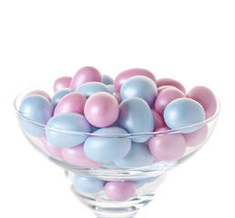 Easter eggs in glassware