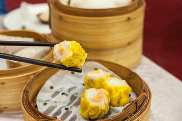 Classic shumai at Hong Kong dim sum restaurant