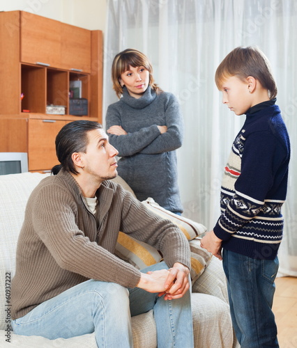 Parents berating teenager son