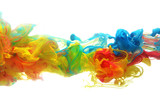 Colorful ink in water poster