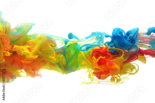 Colorful ink in water - 60937474