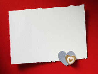 Holidays card with heart