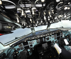 A particular view of a cockpit