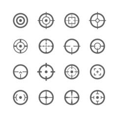 Crosshairs icons