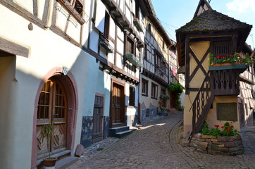 Timber frame houses in Eguisheim, Alsace, France