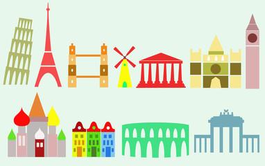 european cities, travel background
