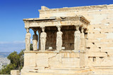 The Caryatids Porch of the Erechtheion in Athens poster