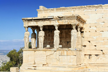 The Caryatids Porch of the Erechtheion in Athens