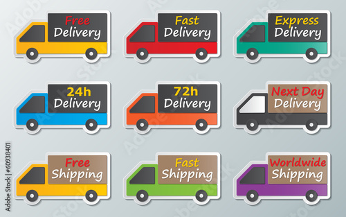 delivery trucks sign