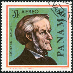 PANAMA - 1966: shows portrait of Richard Wagner (1813-1883)