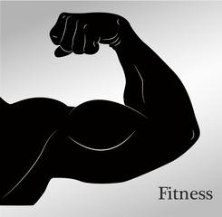 Cartoon biceps (man's arm muscles)